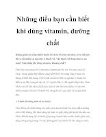 Tài liệu Những điều bạn cần biết khi dùng vitamin, dưỡng chất pdf