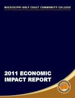 Tài liệu MISSISSIPPI GULF COAST COMMUNITY COLLEGE 2011 ECONOMIC IMPACT REPORT doc