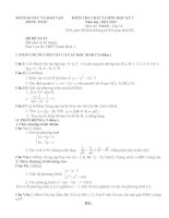 Tài liệu KIỂM TRA CHẤT LƯỢNG HỌC KỲ I Năm học: 2012-2013 Môn thi: TOÁN- Lớp 10 ppt