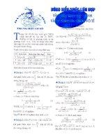 Tài liệu Dùng biểu thức liên hợp vào giải phương trình và hệ phương trình vô tỉ doc