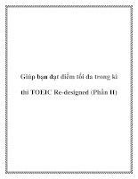 Tài liệu Giúp bạn đạt điểm tối đa trong kì thi TOEIC Re-designed (Phần II) pptx