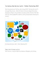 Tài liệu Xu hướng tiếp thị trực tuyến – Online Marketing 2013 pptx