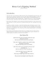 Tài liệu Bruce Lee''''s Fighting Method docx