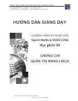 Tài liệu Hướng dẫn giảng dạy Quản trị mạng Linux pdf