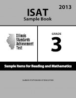 Tài liệu ISAT Sample Book 3: Sample Items for Reading and Mathematics 2013 doc