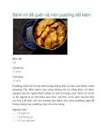 Tài liệu Bánh mì để quên và món pudding tiết kiệm pptx