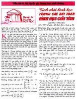 Tính chất hình học trong các bài toán giải tích