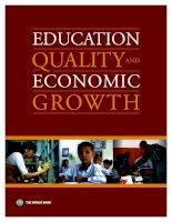 Tài liệu QUALITY EDUCATION ECONOMIC AND GROWTH pptx