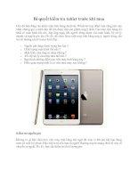 Tài liệu Bí quyết kiểm tra tablet trước khi mua pptx