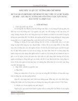 Tài liệu ĐỀ TÀI: QUAN ĐIỂM HỒ CHÍ MINH VỀ MỤC TIÊU CỦA CHỦ NGHĨA XÃ HỘI – GIÁ TRỊ TƯ TƯỞNG ĐÓ VỚI CÔNG CUỘC XÂY DỰNG ĐẤT NƯỚC TA HIỆN NAY pdf