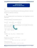 Hướng dẫn giải đề kiểm tra định kỳ số 6 2013 - môn toán