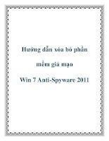 Tài liệu Hướng dẫn xóa bỏ phần mềm giả mạo Win 7 Anti-Spyware 2011 pdf