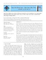 Tài liệu PHƯƠNG PHÁP GIA CÔNG TẤM MAT XƠ DỪA CÓ VÀ KHÔNG CÓ CHẤT KẾT DÍNH ĐỂ KHẢO SÁT KHẢ NĂNG GIA CƯỜNG CHO VẬT LIỆU COMPOSITE NỀN NHỰA NHIỆT DẺO doc