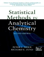 Tài liệu Statistical Methods in Analytical Chemistry docx