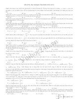 Tài liệu Đề Thi Thử Đại Học Khối A Vật Lý 2013 - Đề 40 pptx