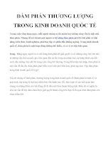 Tài liệu ĐÀM PHÁN THƯƠNG LƯỢNG TRONG KINH DOANH QUỐC TẾ pdf