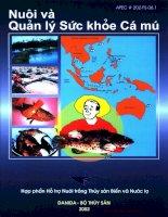 Tài liệu Nuôi và quản lý sức khỏe cá mú potx