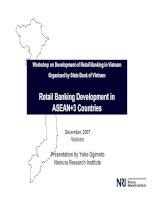 Workshop về hệ thống ngân hàng dành cho bán lẻ ở việt nam