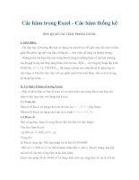 Tài liệu Các hàm trong Excel - Các hàm thống kê doc