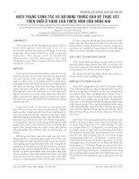 Tài liệu HIỆN TRẠNG CANH TÁC VÀ SỬ DỤNG THUỐC BẢO VỆ THỰC VẬT TRÊN BƯỞI Ở VÙNG TÂN TRIỀU VĨNH CỬU ĐỒNG NAI pdf