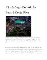 Tài liệu Kỳ vĩ công viên núi lửa Poas ở Costa Rica ppt