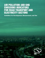 Tài liệu Air Pollution And GHG Emissions indicAtors for roAd trAnsPort And ElEctricity sEctors docx
