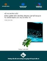 Tài liệu Sổ tay lồng ghép môi trường trong lập kế hoạch và thẩm định các dự án đầu tư pptx