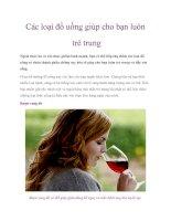 Tài liệu Các loại đồ uống giúp cho bạn luôn trẻ trung pdf