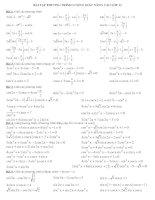 Tài liệu Bài tập phương trình lượng giác nâng cao lớp 11 pptx