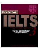 Tài liệu Cambridge IELTS 3 Examination papers from the University of Cambridge Local Examination Syndicate pdf