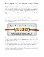 Học làm giàu bằng cách thay đổi tư duy làm giàu