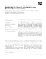 Tài liệu Báo cáo khoa học: Characterization and mode of action of an exopolygalacturonase from the hyperthermophilic bacterium Thermotoga maritima doc