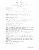 Tài liệu ĐỀ THI THỬ ĐẠI HỌC NĂM 2013 – LÀN 2 MÔN:TOÁN pdf