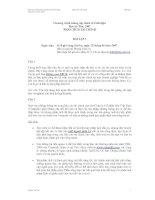 Bài tập về phân tích báo cáo tài chính
