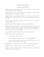 Tài liệu Câu hỏi ôn tập Chương 4 môn thanh toán quốc tế doc