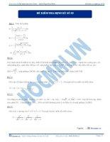 Đề kiểm tra định kỳ số 3 2013 - môn toán