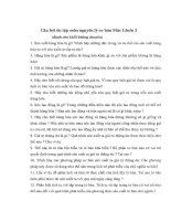 Câu hỏi ôn tập môn nguyên lý cơ bản Mác Lênin 2