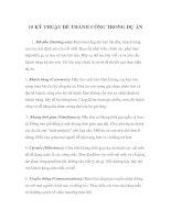 Tài liệu 10 KỸ THUẬT ĐỂ THÀNH CÔNG TRONG DỰ ÁN docx