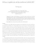 Chế tạo và nghiên cứu vật liệu multferroic lafeo3 PZT
