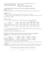 Tài liệu Đề Thi Thử Tốt Nghiệp Địa Lý 2013 - Phần 1 - Đề 12 ppt