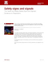 Tài liệu Safety signs and signals. The Health and Safety doc