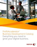 Tài liệu ProfitAccelerator ® Business Development Catalog Everything you need to grow your digital business pdf