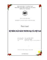 Tiểu luận môn học nghiệp vụ ngân hàng thương mại Hệ thống ngân hàng thương mại của Việt Nam
