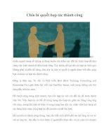 Tài liệu Chín bí quyết hợp tác thành công pdf
