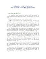 Tài liệu HOÀN THIỆN VÀ XÂY DỰNG CƠ CHẾ BAN HÀNH CHUẨN MỰC KẾ TOÁN VIỆT NAM pdf