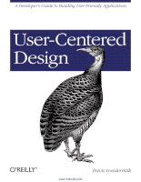 Tài liệu User-Centered Design: A Developer''''s Guide to Building User-Friendly Applications ppt