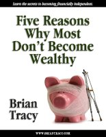 Reasons why people dont become wealthy