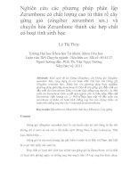 Nghiên cứu các phương pháp phân lập zerumbone có chất lượng cao từ thân rễ cây gừng gió (zingiber zerumbert sm ) và chuyển hóa zerumbone thành các hợp chất có hoạt tính sinh học