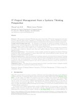 Tài liệu IT Project Management from a Systems Thinking Perspective doc