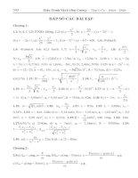 đáp số bài tập vật lý đại cương 1